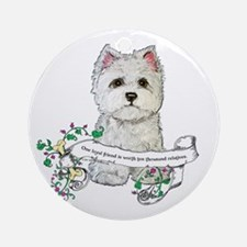Loyal Westhighland Terrier Ornament (Round)