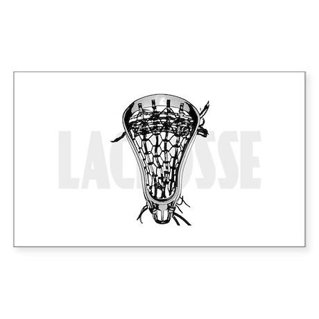 Lacrosse Nuff Said Rectangle Sticker
