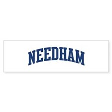 NEEDHAM design (blue) Bumper Bumper Sticker