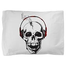 Dj Skull Pillow Sham