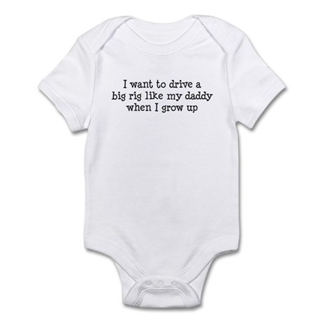 Big Rig Like Daddy Infant Bodysuit