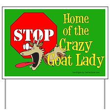 Crazy Goat Lady Yard Sign