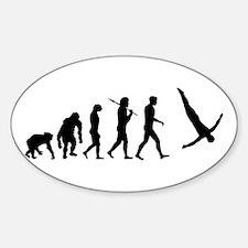 Diving Evolution Sticker (Oval)