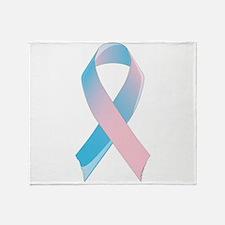 Premature Birth Awareness Ribbon Throw Blanket