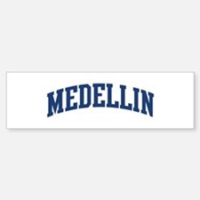 MEDELLIN design (blue) Bumper Bumper Bumper Sticker