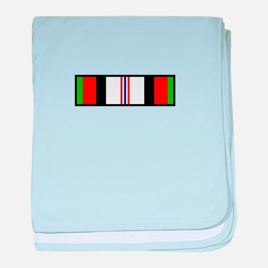 Afghanistan Campaign Ribbon baby blanket
