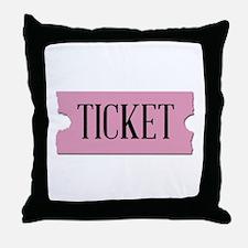Ticket Throw Pillow