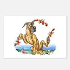 Great Dane Brindle Crabby Postcards (Package of 8)