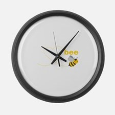 Dad To Bee Large Wall Clock