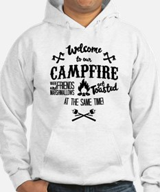 Getting Wasted at Campfire Hoodie