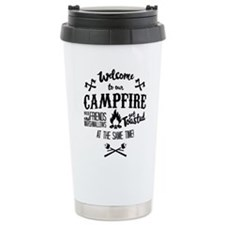 Getting Wasted at Campfire Travel Mug
