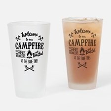 Getting Wasted at Campfire Drinking Glass