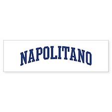 NAPOLITANO design (blue) Bumper Bumper Sticker