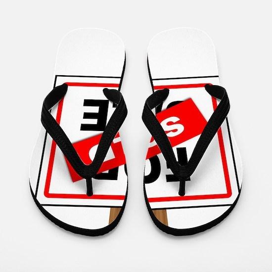 Sold Sign Flip Flops