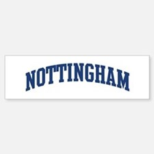 NOTTINGHAM design (blue) Bumper Bumper Bumper Sticker