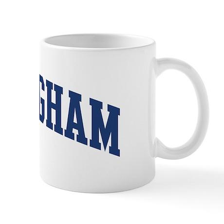 Nottingham design blue mug by surnamealot for Blue mug designs