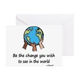 Be the change Greeting Cards (20 Pack)