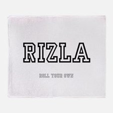 RIZLA, ROLL YOUR OWN :- Throw Blanket
