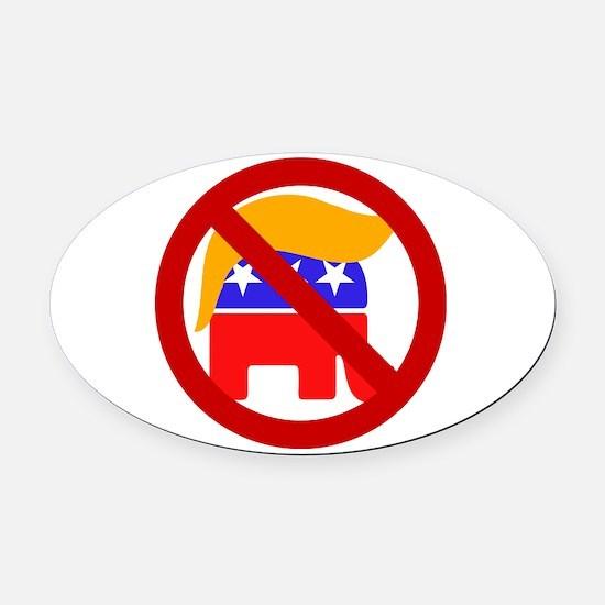 No Trump Oval Car Magnet