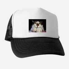 Funny Crossed Eyed Cat And Ladybird Trucker Hat