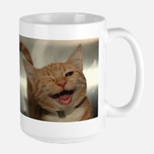 Winking Happy Ginger Cat Mugs