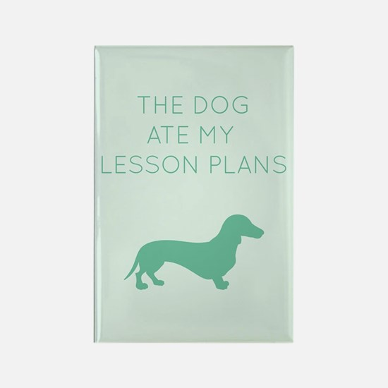 The Dog Ate My Lessons Plans - Dachshund Magnets