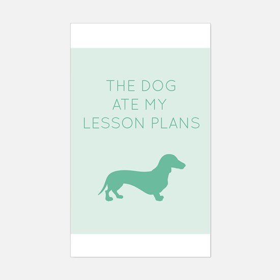 The Dog Ate My Lessons Plans - Dachshund Decal