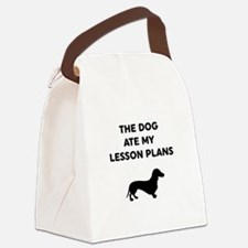 The Dog At My Lesson Plans Canvas Lunch Bag