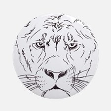 Lion Sketch Round Ornament