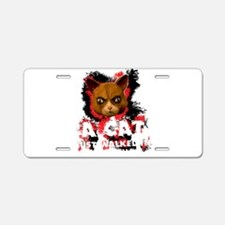 Mad Dogs walked Cat Shirt Aluminum License Plate
