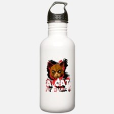 Mad Dogs walked Cat Sh Water Bottle