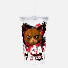 Mad Dogs walked Cat Sh Acrylic Double-wall Tumbler
