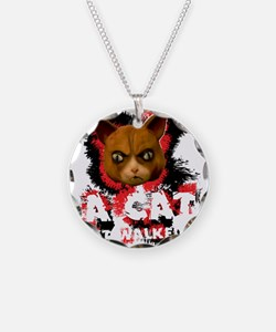 Mad Dogs walked Cat Shirt Necklace