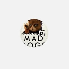 Mad Dogs Cat Shirt Mini Button