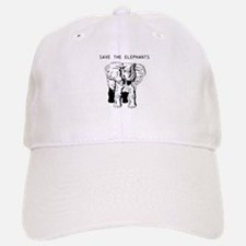 Save the Elephants Baseball Baseball Baseball Cap