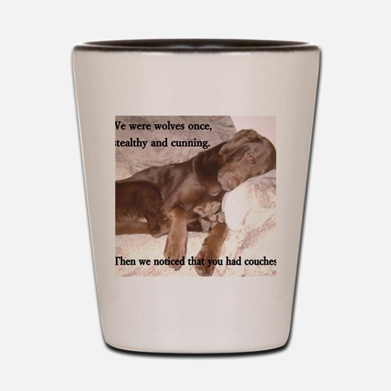 Funny Labrador Shot Glass
