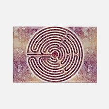"""Magenta """"Santa Rosa"""" Labyrinth Magnets"""