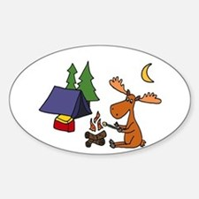 Funny Moose Camping Decal