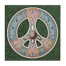 Knotwork Peace Symbol Tile Coaster