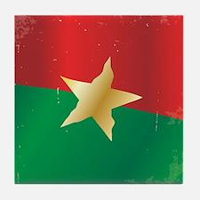 Cute Burkina faso flag Tile Coaster