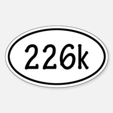 226k Oval Decal