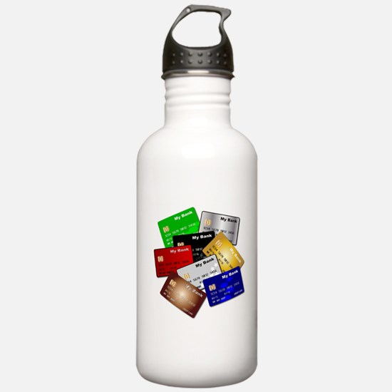 Debit and Credit Cards Water Bottle