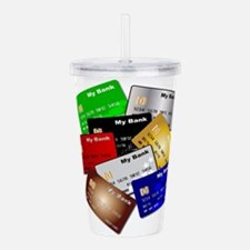 Debit and Credit Cards Acrylic Double-wall Tumbler