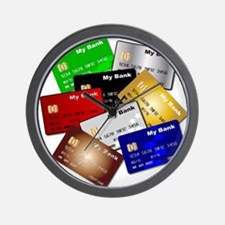 Debit and Credit Cards Wall Clock