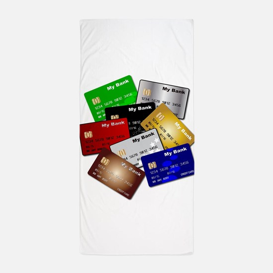 Debit and Credit Cards Beach Towel