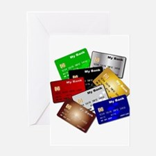 Debit and Credit Cards Greeting Cards