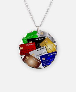 Debit and Credit Cards Necklace