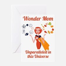 Cool Sports mom Greeting Card