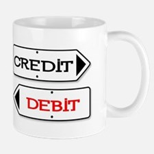 Credit Debit Arrows Mugs
