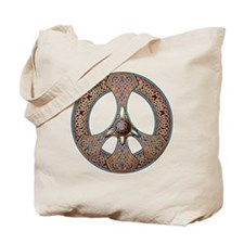 "Knotwork ""Peace"" Tote Bag"